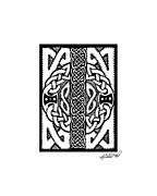 Border Drawings - Celtic Double Doors by Kristen Fox