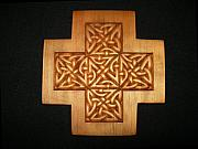 Brown Reliefs Originals - Celtic Knot Cross by Shane  Tweten