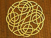 Plate Pyrography - Celtic Knot by Keith Cichlar