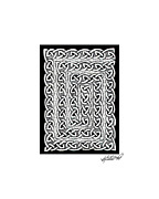 Border Drawings - Celtic Knotwork Card Spiral by Kristen Fox