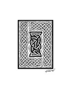 Border Drawings - Celtic Knotwork Framing by Kristen Fox