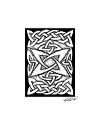 Border Drawings - Celtic Knotwork Quasar by Kristen Fox