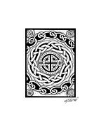 Border Drawings - Celtic Knotwork Rondelle by Kristen Fox
