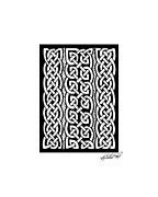 Border Drawings - Celtic Knotwork Stripes by Kristen Fox
