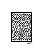 Border Drawings - Celtic Knotwork Subdivision by Kristen Fox