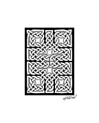 Border Drawings - Celtic Knotwork Ten Rooms by Kristen Fox