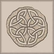 Coin Mixed Media Prints - Celtic Lost Token Knotwork Print by Kristen Fox