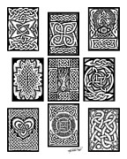Artist Trading Cards Art - Celtic Tarot Spread by Kristen Fox
