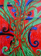 Genevieve Esson Painting Originals - Celtic Tree Knot by Genevieve Esson