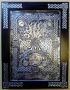 Tree Art Reliefs Posters - Celtic Tree Of Life Poster by Cacaio Tavares