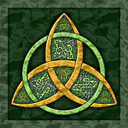 Knot Paintings - Celtic Trinity Knot by Kristen Fox