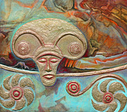Ancient Reliefs - Celtic Warrior Ritual Mask by Zoran Peshich
