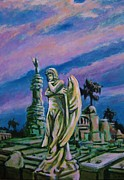 Cemetary Paintings - Cemetary Guardian by John Malone