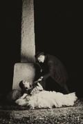 Cemetary Romance Print by Darcy Evans