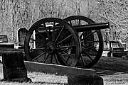 Civil War Cannon Prints - Cemetery Cannon Print by Lone  Dakota Photography