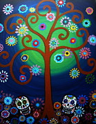 Dia De Los Muertos Paintings - Cemetery Day Of The Dead by Pristine Cartera Turkus