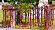 Antiquated Prints - Cemetery Fence Print by Diana  Tyson