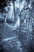 Grave Photo Originals - Cemetery Gate by Jennifer Milbert