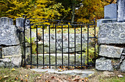 Stone Steps Framed Prints - Cemetery Gate Framed Print by Jim  Calarese