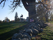 Confederate Monument Prints - Cemetery Hill - Gettysburg Print by Lisa A Bello