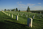 Cemetery, Little Bighorn Battlefield Print by Michael S. Lewis