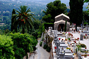 Saint Paul De Vence Framed Prints - Cemetery on High Framed Print by Andrea Simon