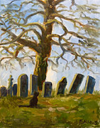 Cemetary Paintings - Cemetery Road by Nora Sallows