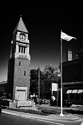 Flagpole Photos - Cenotaph Clock Tower And Flagpole Niagara-on-the-lake Ontario Canada by Joe Fox