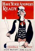 Home Front Prints - Census Poster, 1917 Print by Granger