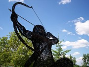 Landscapes Sculptures - Centaur Warrior sculpture by Leslie Komaromi