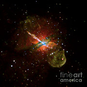 Jet Star Photo Metal Prints - Centaurus A Metal Print by Nasa