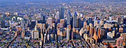 Philadelphia Skyline Posters - Center City Aerial Photograph Skyline Philadelphia Pennsylvania 19103 Poster by Duncan Pearson