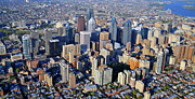 Philadelphia From The Air Prints - Center City Philadelphia Large Format Print by Duncan Pearson