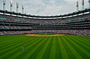 Ballgame Prints - Center Field Print by Robert Harmon