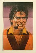 Hugh Hefner Posters - Center Fold with Bunny Poster by Gary Kaemmer