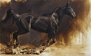 Impressionistic Horse Paintings - Center by JQ Licensing