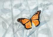 Monarch Paintings - Center Of Attention by Arline Wagner