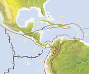 Haitian Photos - Central America Tectonic Plates, Diagram by Gary Hincks