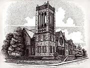 Lexington Drawings - Central Christian Church by Tanya Crum