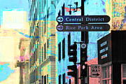 Photo Collage Prints - Central District Print by Susan Stone