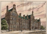Central Institution Of The Cityy And Guilds Of London And Technical Education. London. 1881 Print by Alfred Waterhouse