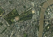 City Of Bridges Posters - Central London, Aerial View Poster by Getmapping Plc