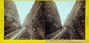 Explosives Prints - Central Pacific Railroads Bloomer Cut Print by Everett