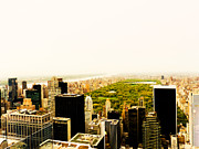 New York City Skyline Art - Central Park and the New York City Skyline From Above by Vivienne Gucwa