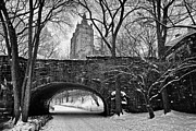 Cold Photo Framed Prints - Central Park and the San Remo Building Framed Print by John Farnan