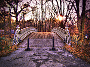 Central Park Prints - Central Park Bridge Print by Tammy Wetzel