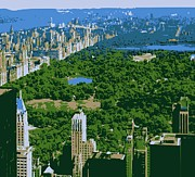 The Capital Of The World Digital Art Posters - Central Park Color 6 Poster by Scott Kelley