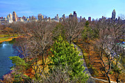 Cityscapes Prints - Central Park East Skyline Print by Randy Aveille