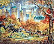 Central Park Fall Print by Kamil Kubik