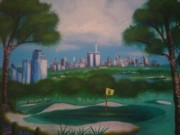 2001. World Trade Center. Paintings - Central Park Golf by Jason Walburn